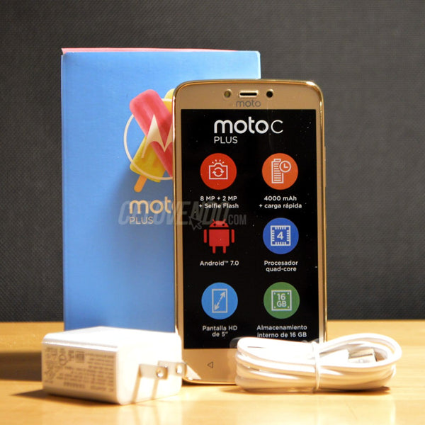 Motorola C Plus Color Dorado | Tigo | 16GB | XT1725 |