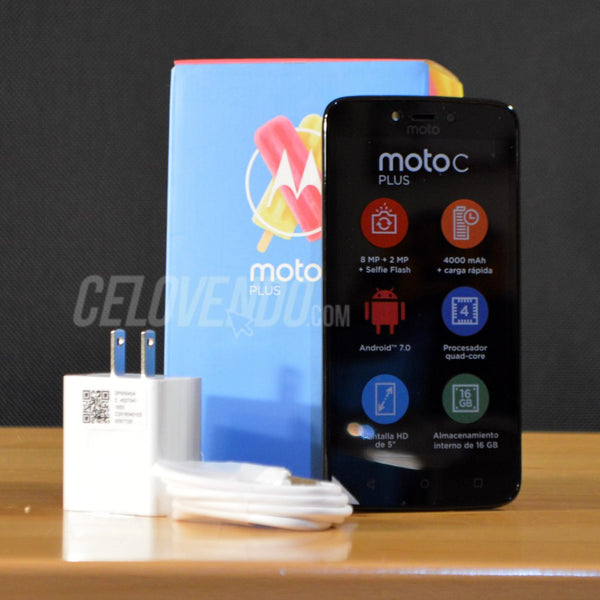 Moto C Plus | Color Negro | Doble Sim | 16GB | XT1724 | Liberado