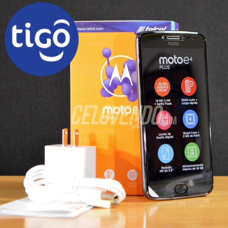 Motorola E4 Plus | Color Gris Metalico | 16GB | Tigo | Liberado