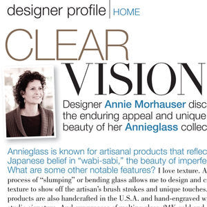 A Sneak Peek at Annie's Designer Profile in Bridal Guide Magazine's Sept/Oct Issue