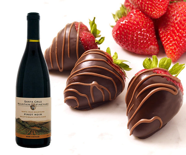 Santa Cruz Mountain Vineyard & Marini's Chocolate Dipped Strawberries Pairing