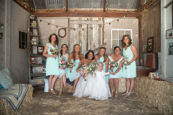 wedding in barn DIY handcrafter