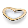 Heart Shaped Glass Bowl, Gold Band, Annieglass