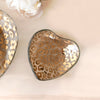 Glass Heart Plate with 24k gold cheetah pattern, handmade in the USA