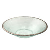 edgey round party bowl thick glass with platinum chipped edge