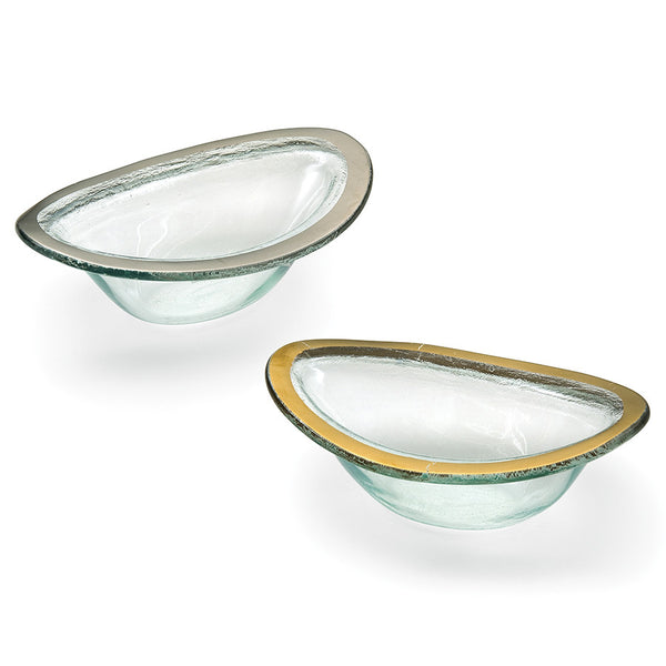 sauce bowl see through glass with rim