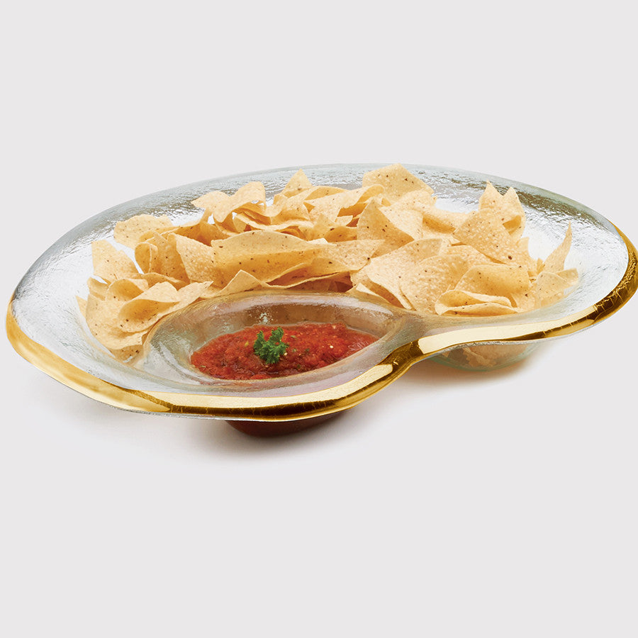 Roman Antique Chip and Dip Bowl