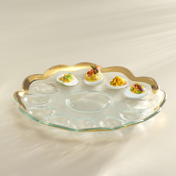 Roman Antique Deviled Egg Platter