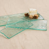 wood grain textured clear glass cheese board