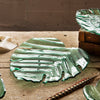 Glass Palm Frond Cheese Board & Plate, Leaves by Annieglass
