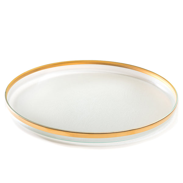 Mod round glass serving platter