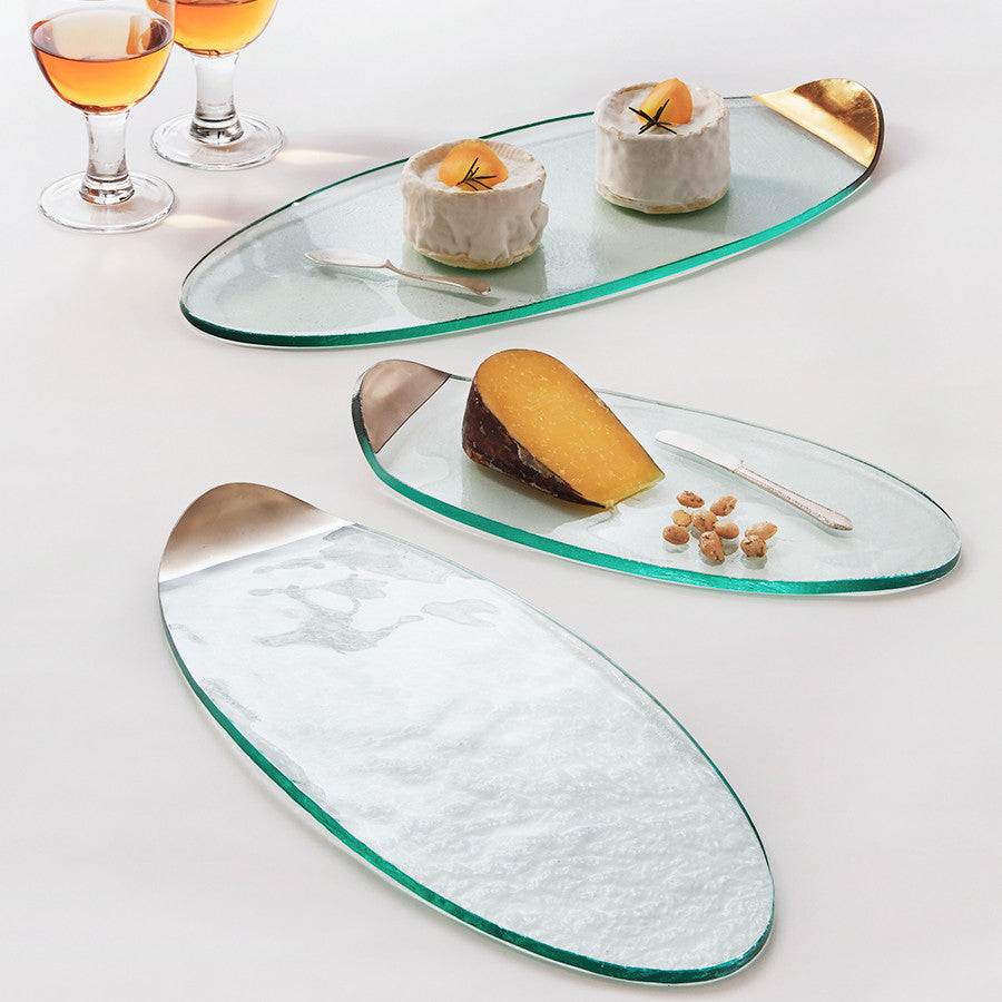 Glass Cheese Boards, Platters in Gold | Mod by Annieglass