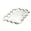 ruffle bread basket serving tray platinum rims for parties
