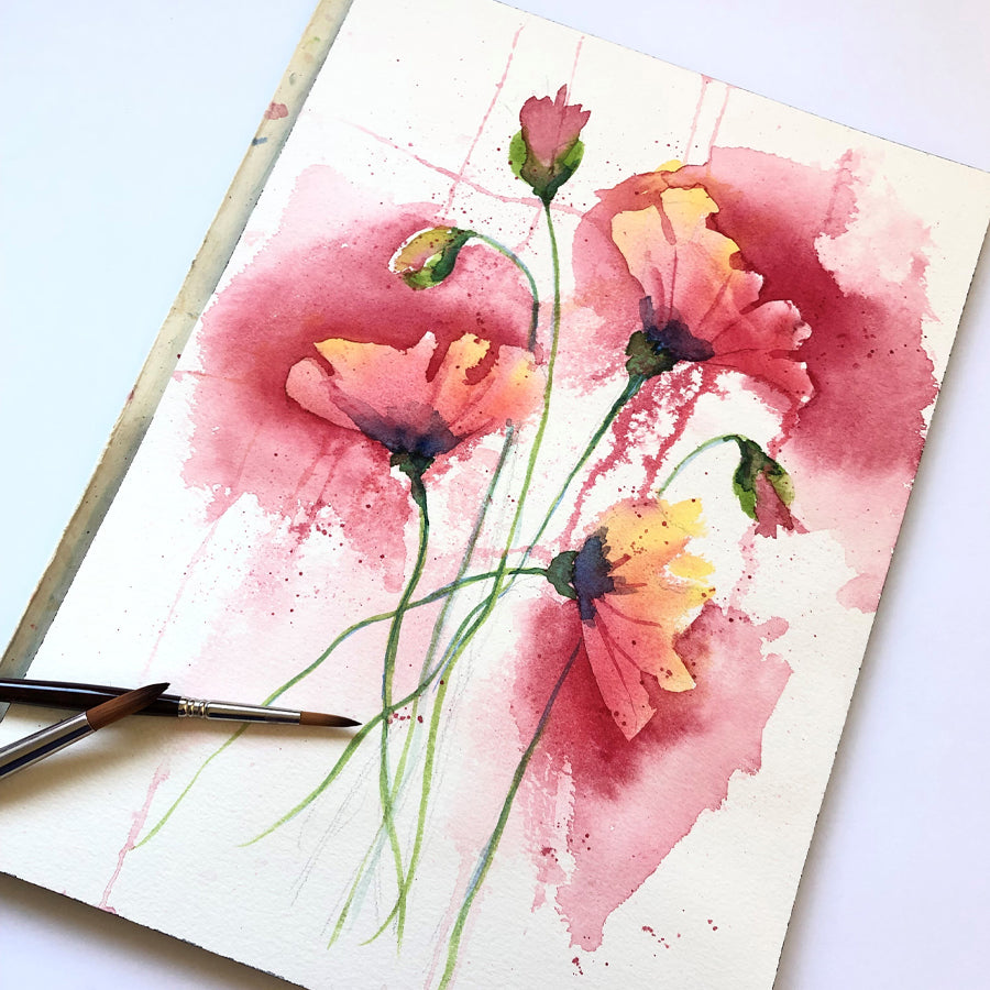 Watercolor Poppies Workshop (Sold Out)