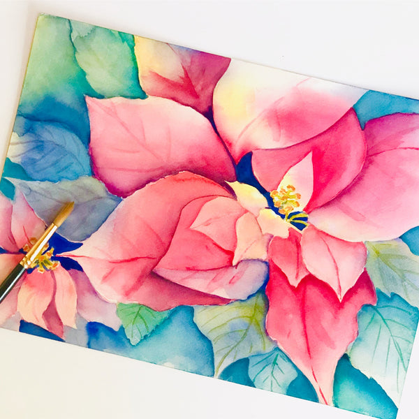 Poinsettia Watercolor Workshop (11/24, 12/14)