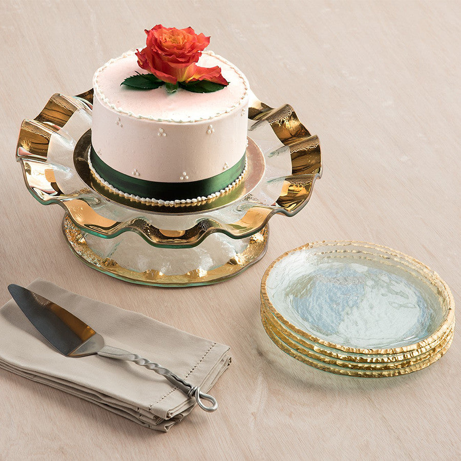 inches beaded helen pedestal events site g cake stand clearglassbeadededgecakestand glass product edge