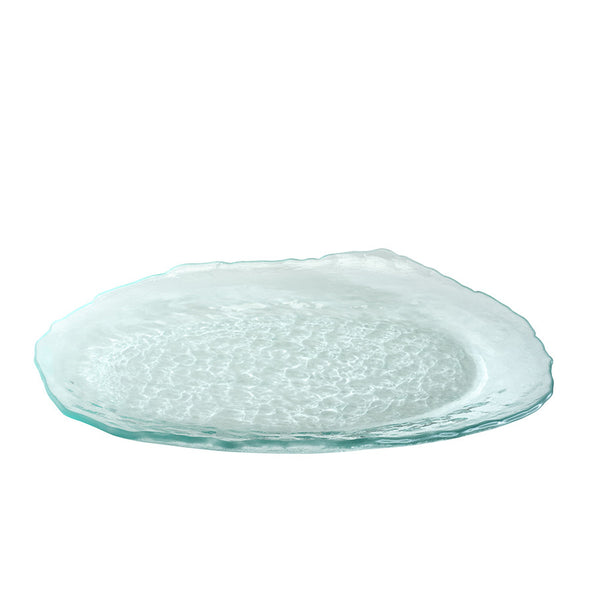 Handmade Clear Glass Oval Trays & Platters, Salt by Annieglass