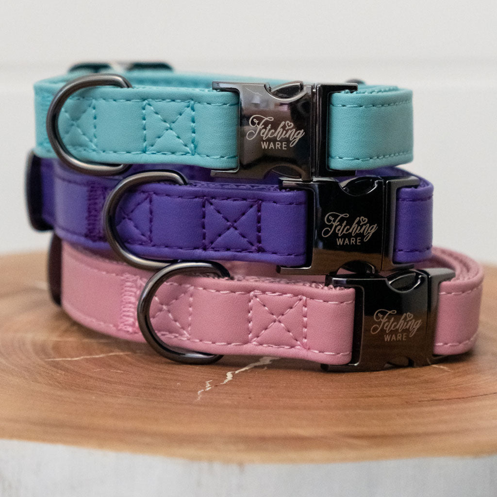 Faux Leather Dog Collars