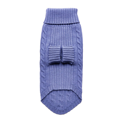 Fetching Ware 100% Blue Merino Wool Turtleneck Dog Jumper