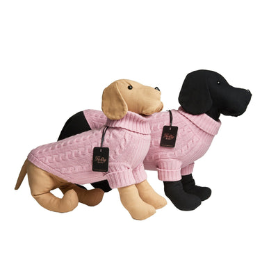 Fetching Ware 100% Pink Merino Wool Turtleneck Dog Jumper