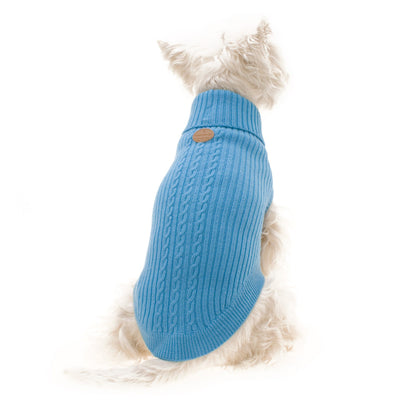 Hamish McBeth Blue Mongolian Wool Dog Jumper