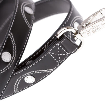 Hamish McBeth Keado Black Leather Dog Lead