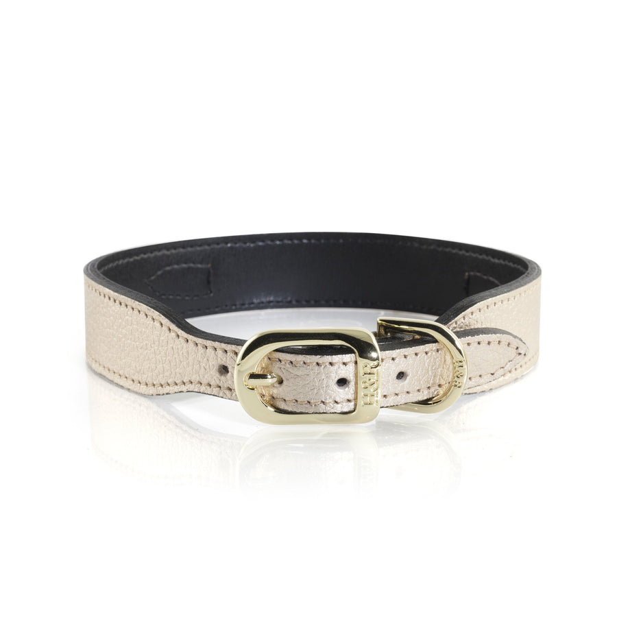 Hartman & Rose Haute Couture Art Deco leather collar in Metallic Gold