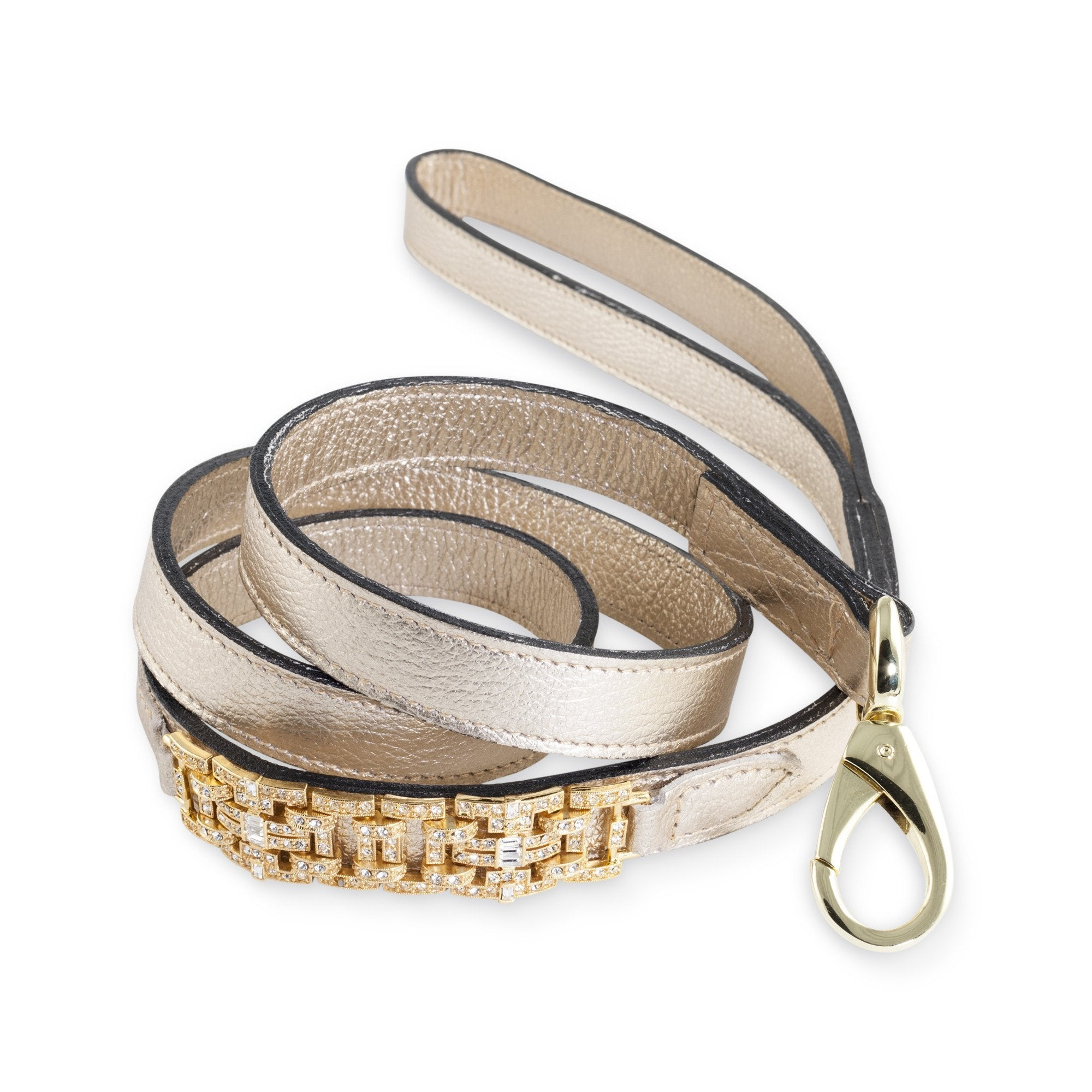Hartman & Rose Haute Couture art deco leather lead in metallic gold