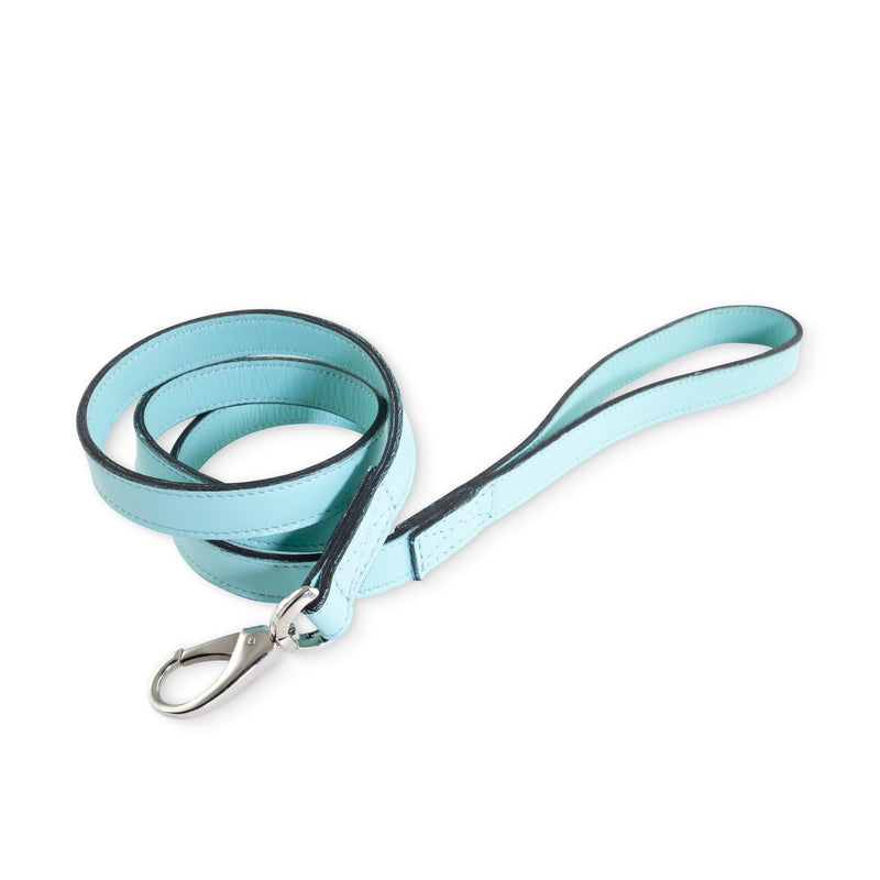 Hartman & Rose Mayfair Turquoise Leather Dog Lead