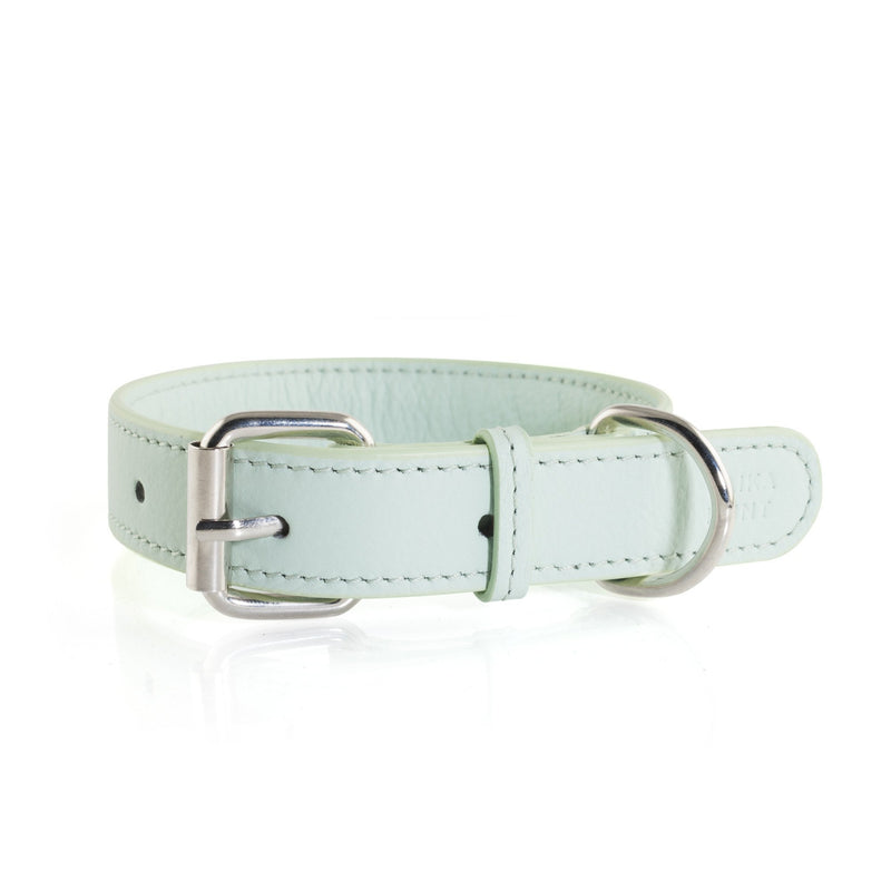 Laika Hunt Iceberg Blue Leather Dog Collar and Lead