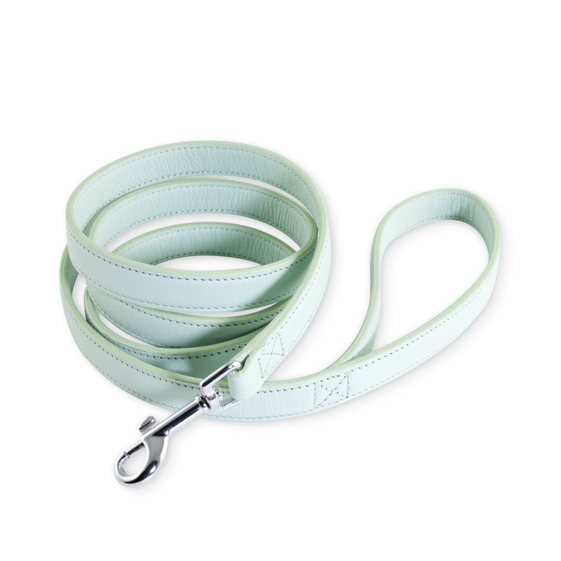 Laika Hunt Iceberg Blue Leather Dog Lead