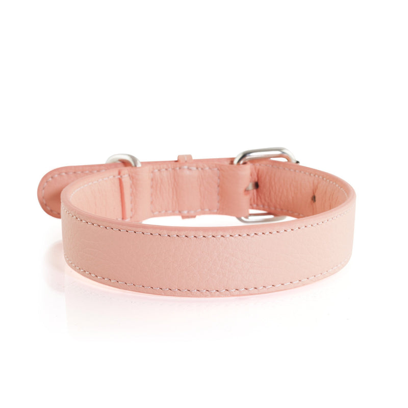 Laika Hunt Salmon Leather Dog Collar