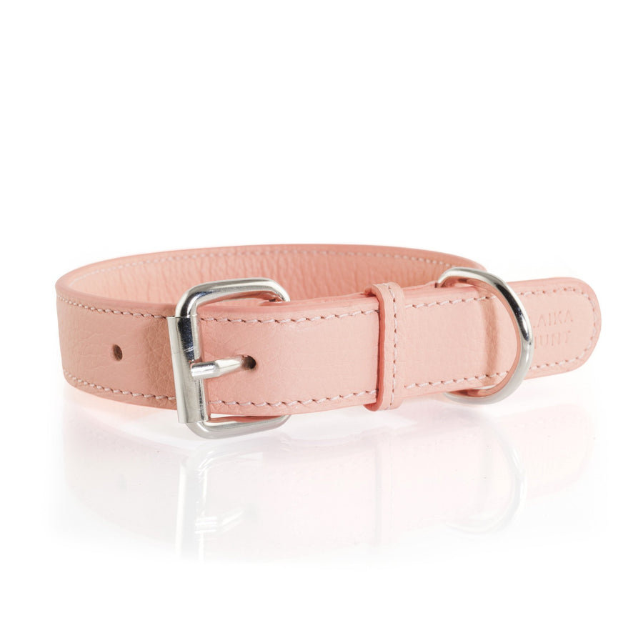 Laika Hunt Salmon Leather Dog Collar and Lead