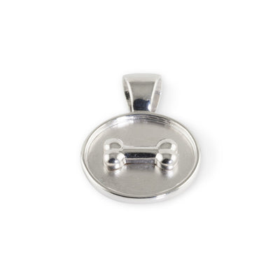 Lisa Welch Dog Themed jewellery -  Bone on Disc Pendant Sterling Silver