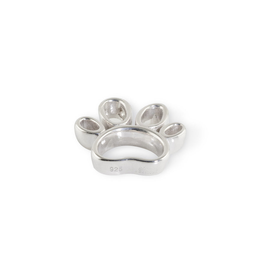 Lisa Welch Dog Themed Jewellery - Open Paw Pendant Sterling Silver