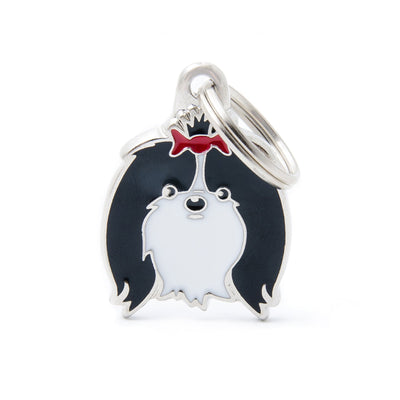 My Family Black and White Shin Tzu Pendant and Keychain