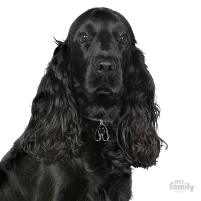 My Family Black Cocker Spaniel Pendant and Keychain