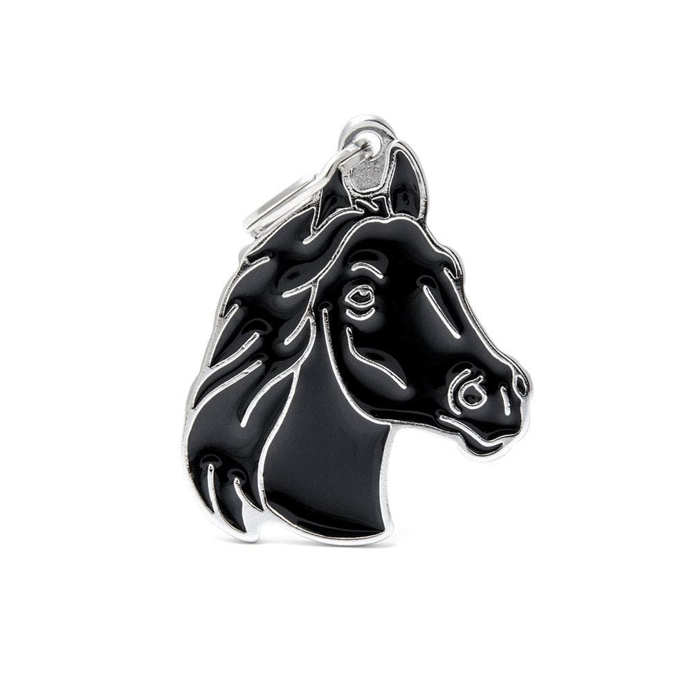 My Family Black Horse Dog I.D. Tags - 3B