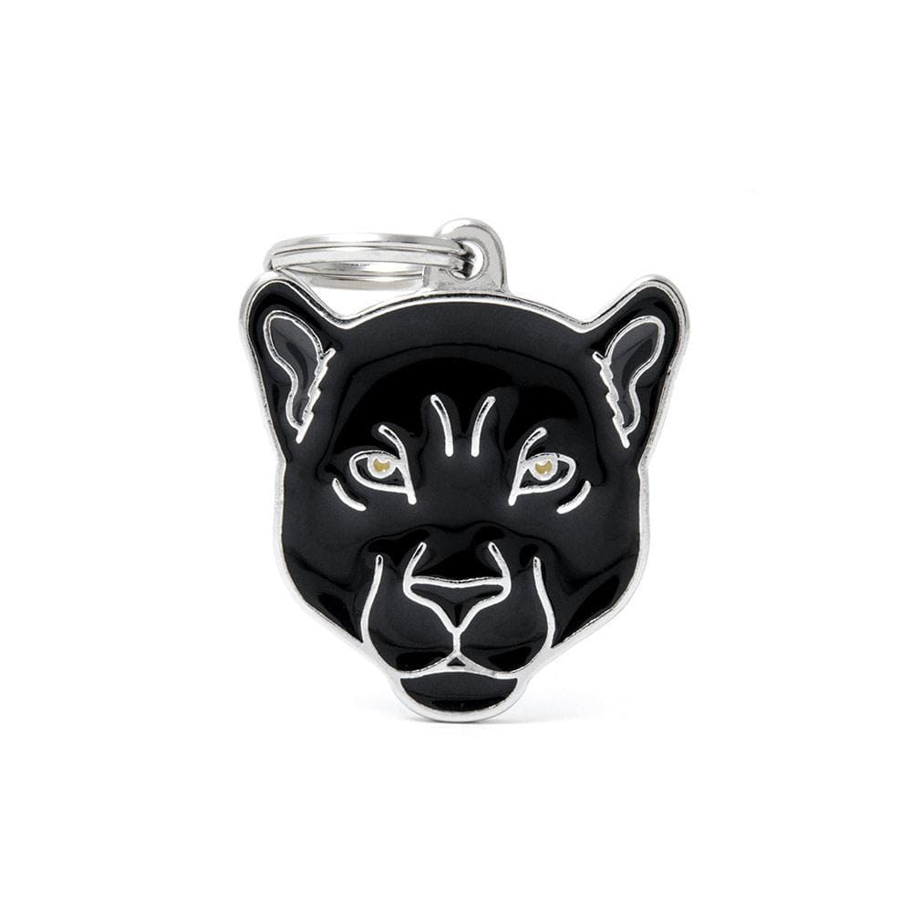 My Family Black Panther Dog I.D. Tags - 3B