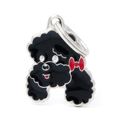 My Family Black Poodle Pendant and Keychain