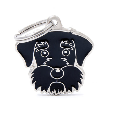 My Family Black Schnauzer Pendant and Keychain