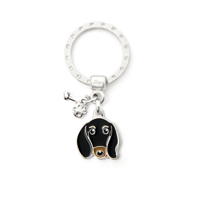 My Family Black & Tan Dachshund Pendant and Keychain