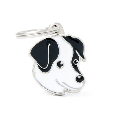 My Family Black & White Jack Russell Pendant and Keychain