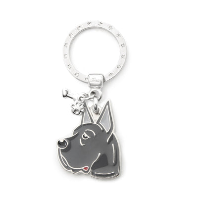 My Family Blue Great Dane Pendant and Keychain