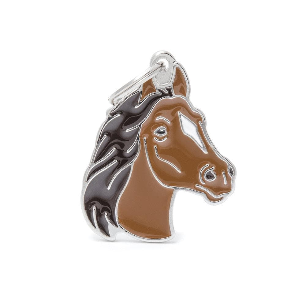 My Family Brown Horse Dog I.D. Tags - 3B