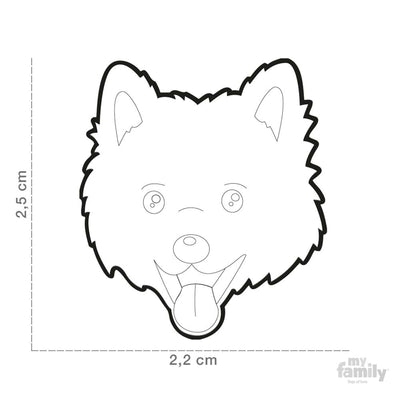 My Family Brown Italian Spitz Dog I.D. Tags - 3B