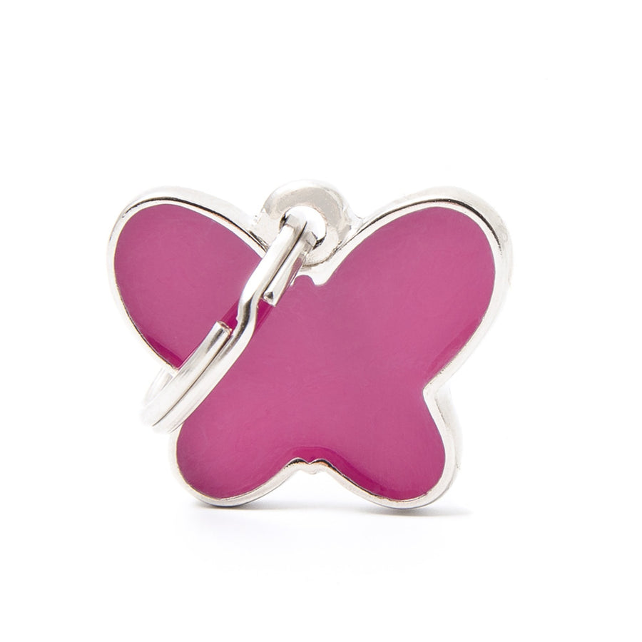 My Family Charms Pink Butterfly Pet I.D. TAG