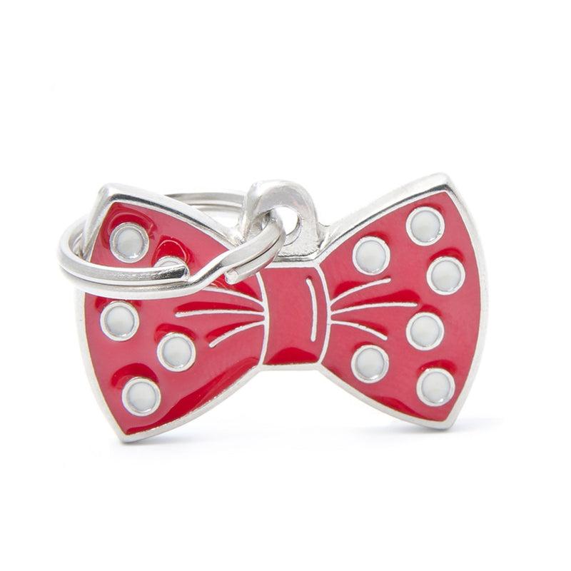 My Family Charms Red Bow Tie I.D. TAG