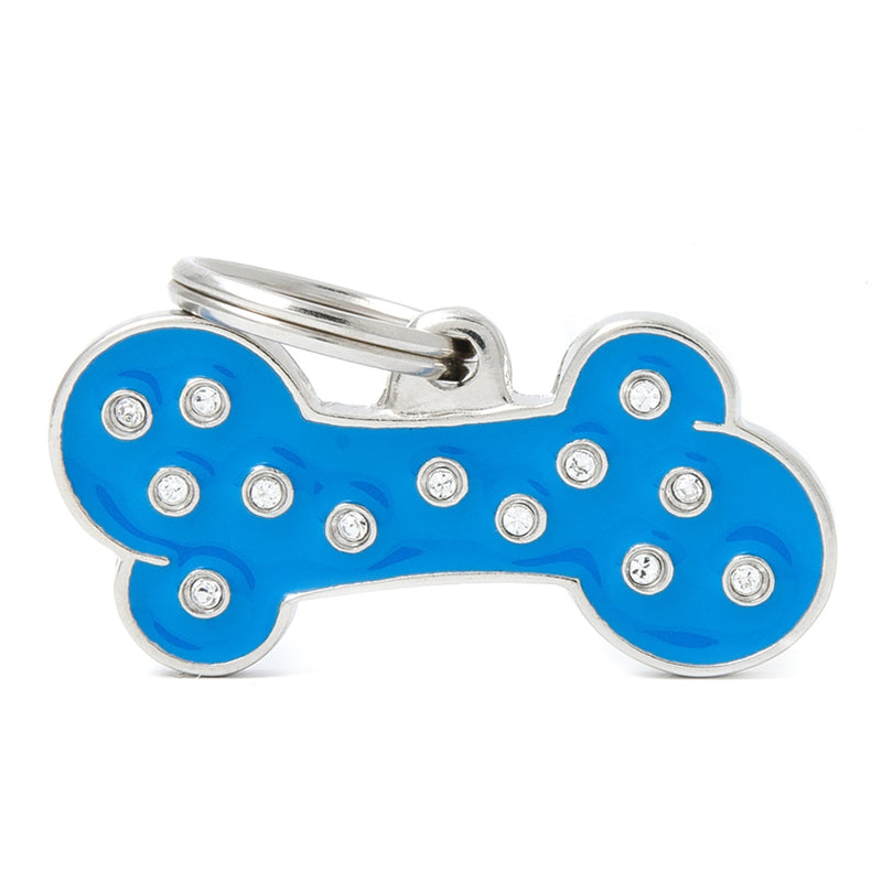 My Family Chic Blue Big Bone PET I.D TAG