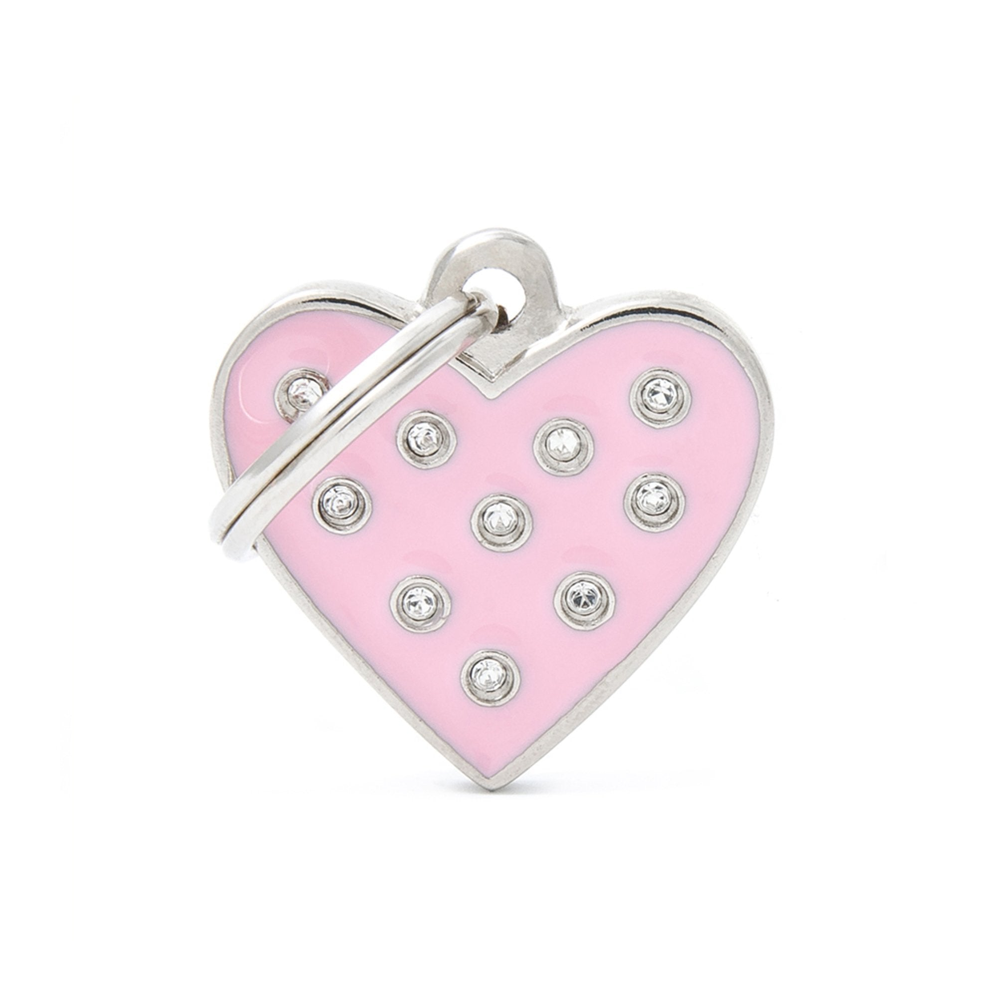 My Family Chic Pink Heart PET I.D TAG